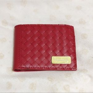 Diamond Supply Red Basket Weave Wallet